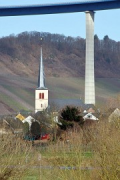 High-Moselle-Crossing, Wittlich: valley pillar and church-tower