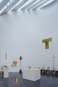 Church by the Sea: main altar and skylight