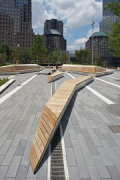 Liberty Park: benches in main-axis, zoomed