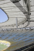 Maracanã stadium:view southern stand, roof-construction