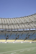 Maracanã stadium: southern stand seen from green