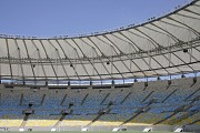 Maracanã stadium: southern roof seen from green