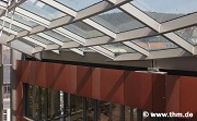 Marburg university library: roof-joint towards passage (photo: Dittrich)