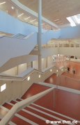 Marburg university library: airspace about central staircase (photo: Burcu)