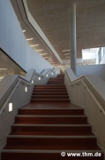 Marburg university library: upper central staircase (photo: Ben Zakour, Jakob, Willershausen)