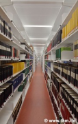 Marburg university library: shelf rows (photo: Burcu, Demir, Gülcihan)