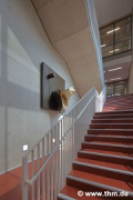 Marburg university library: building-art, south-western escape-stairs (photo: Dittrich)