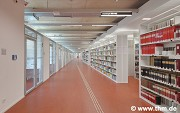 Marburg university library: 1st shelf-rows, fig. 1 (photo: Yüzer, Gülenc, Schmidt)