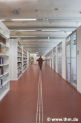 Marburg university library: shelf rows, fig. 2 / ghost (photo: Sowa, Theiss, Schilken, Wagner, Suchfort, von der Heid, Franke)