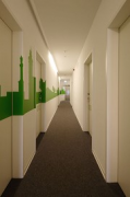 mk-Hotel Stuttgart: ground floor corridor