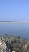 The Mont Saint Michel seen from the bay's eastside