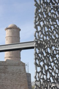 MuCEM, escape stairs, south-east corner, Detail 1