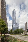 One World Trade Center: southern view from West Street / Albany Street