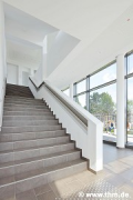 Philosophikum II: lobby, staircase, diagonal view (photo: Rehorn)