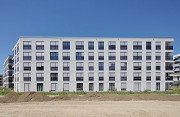 Colmdorf-Street, Munich-Aubing: eastern view of residential quarter