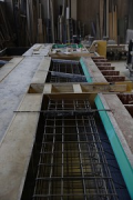 Rhine-boulevard: formwork of a major precast-stair