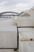 Rhine-boulevard: the precast-elements are laying on a concrete-base 3