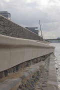 Rhine-boulevard: rough rocks building the bank below the promenade