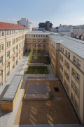 Röte-streetquarter-housing: eastern view of new courtyard