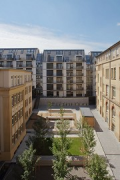 Röte-streetquarter-housing: western view of new courtyard