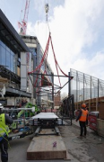 St. Giles Circus: removing transport-rack