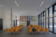 St. Leonhard-extension: school-canteen, total view towards West