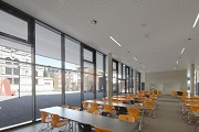St. Leonhard-extension: school-canteen, total view towards East 3