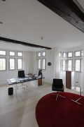 Tebartz-van Elst: frame house: tall office at the first floor