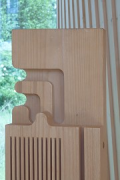 Timber Prototype House, Apolda; IBA Thüringen: CNC-milled mock-up beam, zoomed