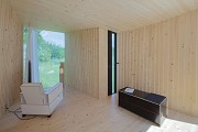 Timber Prototype House, Apolda; IBA Thüringen: interior, back-view, total