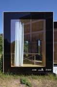 Timber Prototype House, Apolda; IBA Thüringen: frontal view, great screen
