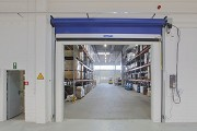 Novoferm tormatic: 2nd rolling gate to high rack storage area