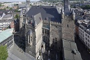 Aachen town-hall: airborne southern view
