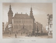 Aachen town-hall: copper engraving, Napoleonic time, undated, ca. 1800