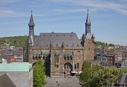 Aachen town-hall: southern view from cathedral's dome-bridge