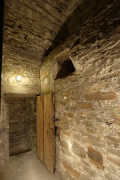 Aachen town-hall, inside Granus-tower: 2rd-floor central-room opened double-door