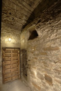 Aachen town-hall, inside Granus-tower: 2rd-floor central-room closed double-door