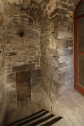 Aachen town-hall, inside Granus-tower: basement door