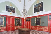 Aachen town-hall: red chamber, reconstruction of a historical photo