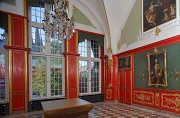 Aachen town-hall: red chamber, south-western room-corner