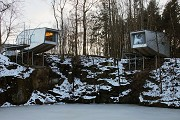 baumhaus lodge: 2nd unit, cliff-houses, northern view, zoomed