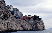 Villa Malaparte, Eastern view from shore line
